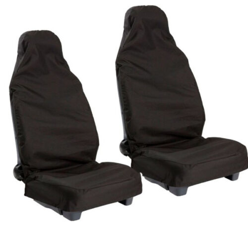 New Universal Nylon Water Proofed Seat Covers Occasional Use Black Cover Pair