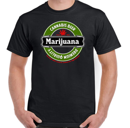 Cannabis Beer Mens Funny Drug Humour T-Shirt Marijuana Weed Dope Spliff Hash Top
