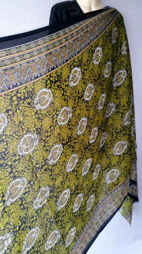 Étole foulard écharpe BOLLYWOOD INDIEN Dupatta tissu SARI goa hippie 103 cm X 192 cm