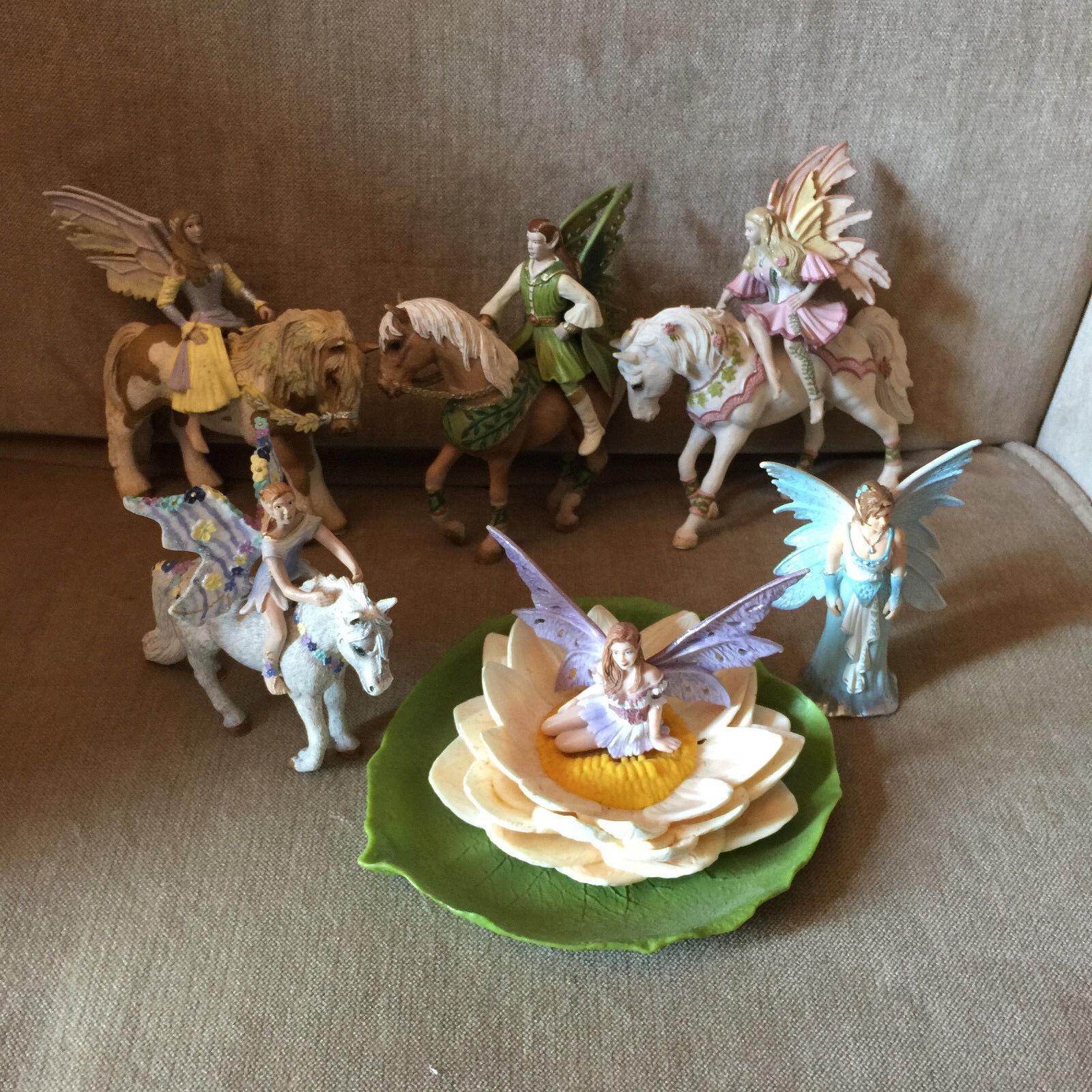 Papo Schleich baylaya Hadas con caballos Lotus Lote