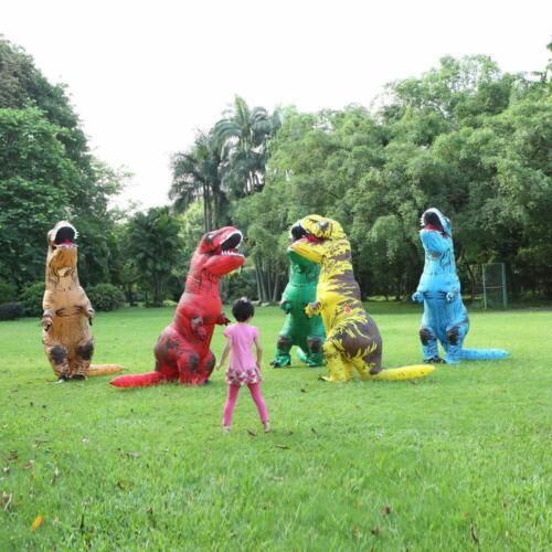 Gift Adults Kids T-REX Inflatable Dinosaur Costume Christmas Jurassic Blow up