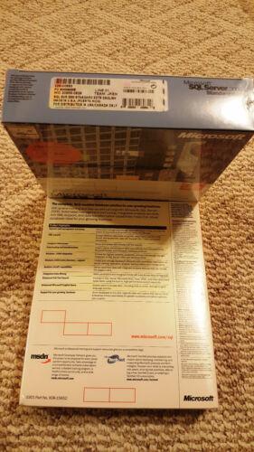 Microsoft SQL Server 2000 Full Retail 5 CAL Sealed Box SKU 228-00683