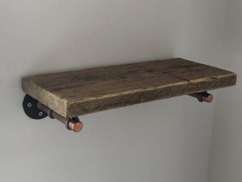 gorgeous pair of custom made copper shelf brackets with optional rustic shelf