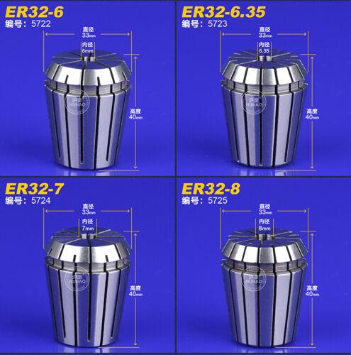 18pcs ER32-3---ER32-20 Spring Collet for CNC Chuck Milling Lathe ER32