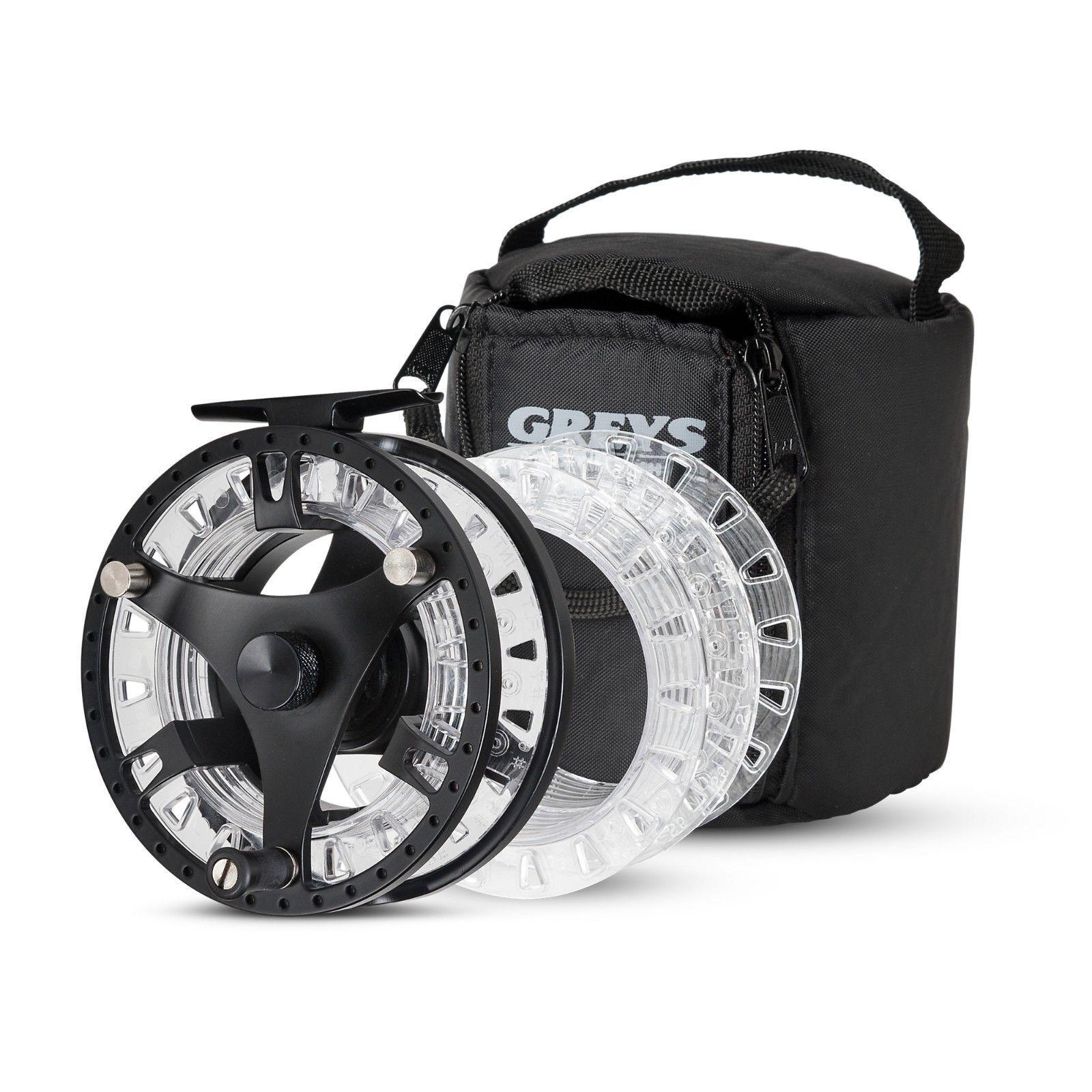 New graus GTS 500 Fliegen Fishing Reel - 3 Spools & Zipped Case