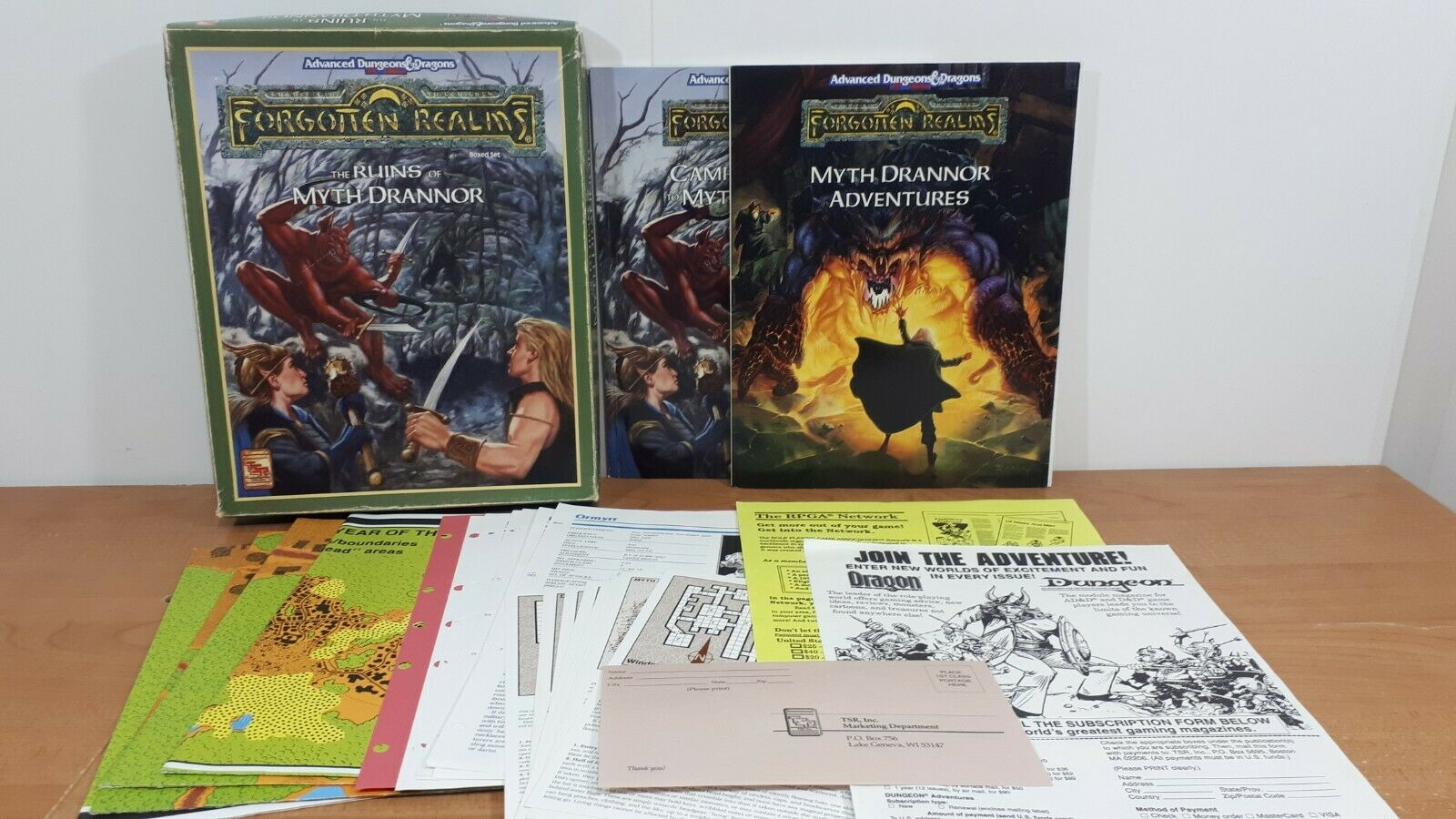 TSR Dungeons & Dragons D&D Forgotten Realms Ruins of Myth Drannor, The Box