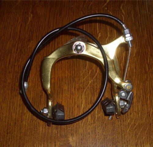 NOS Vintage Old School BMX Bike Gold Front Brake Caliper