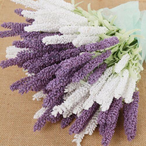 12 Heads Lavender Bouquet  Wedding Silk Flowers High Simulation Home Decoration//