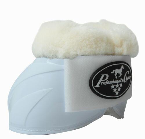 Professional/'s Choice Equine Ballistic Spartan II Fleece Bell Boots White