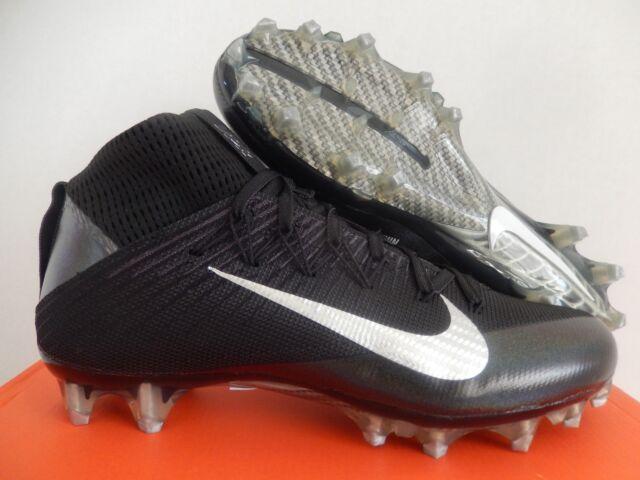 more photos 4bdeb 88e6a Nike Vapor Untouchable 2 Football Cleats Size 8 BOOTS Mens Black Silver Gray