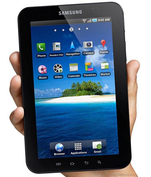 SAMSUNG GALAXY TAB Gt-P1000 16gb Wi-Fi + 3g Unlocked 7in Sim Card  Black-White