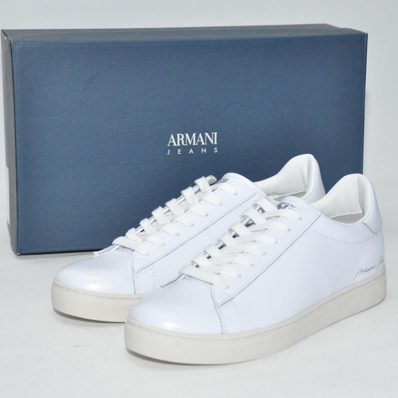 ARMANI JEANS Schuhe Sneaker LEDER LUXUS UVP:230 935022 7P400 Gr. 42 - 45