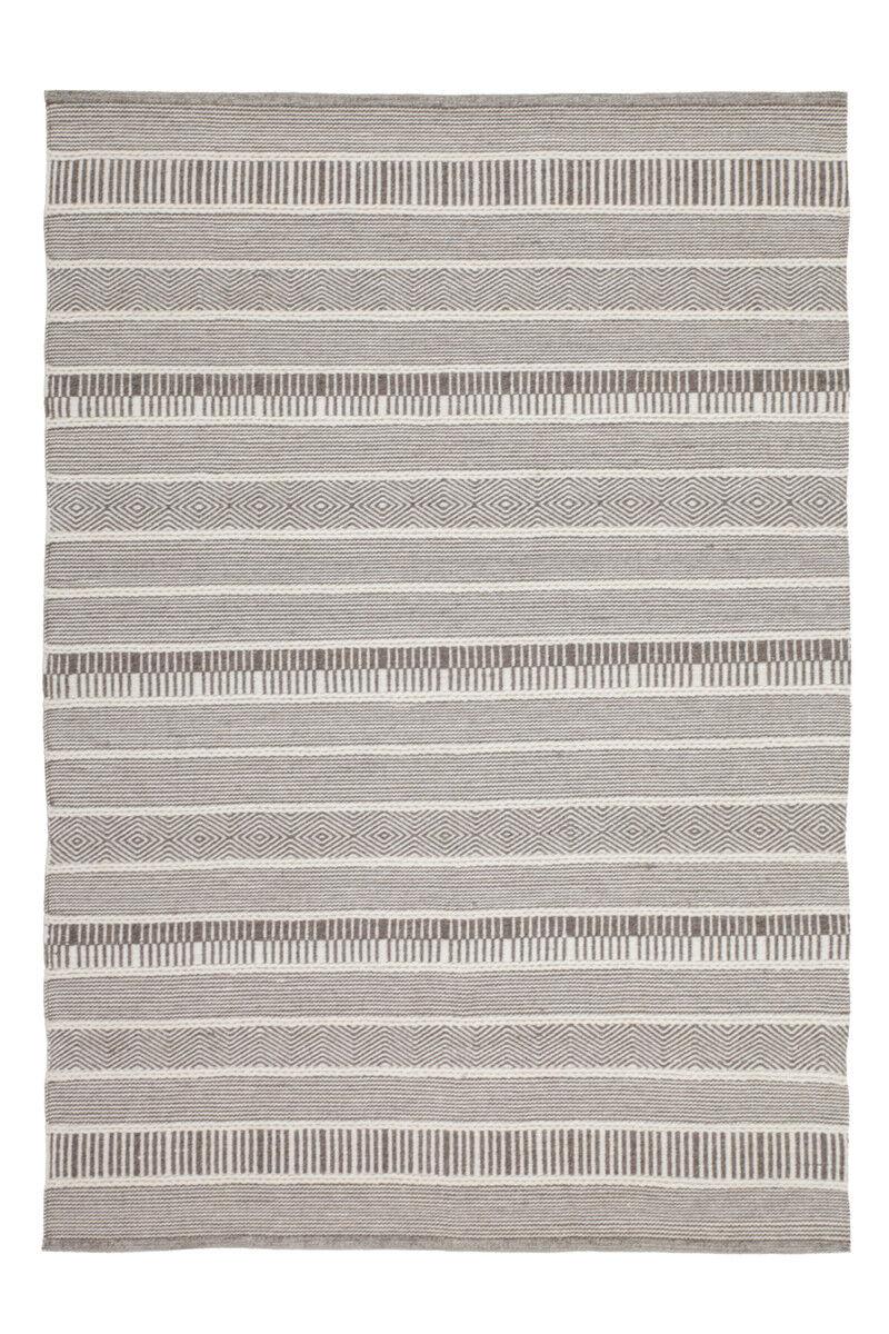Streifen Design  100% Baumwolle Handgewebt Wollteppich Teppich Natur 120X170cm