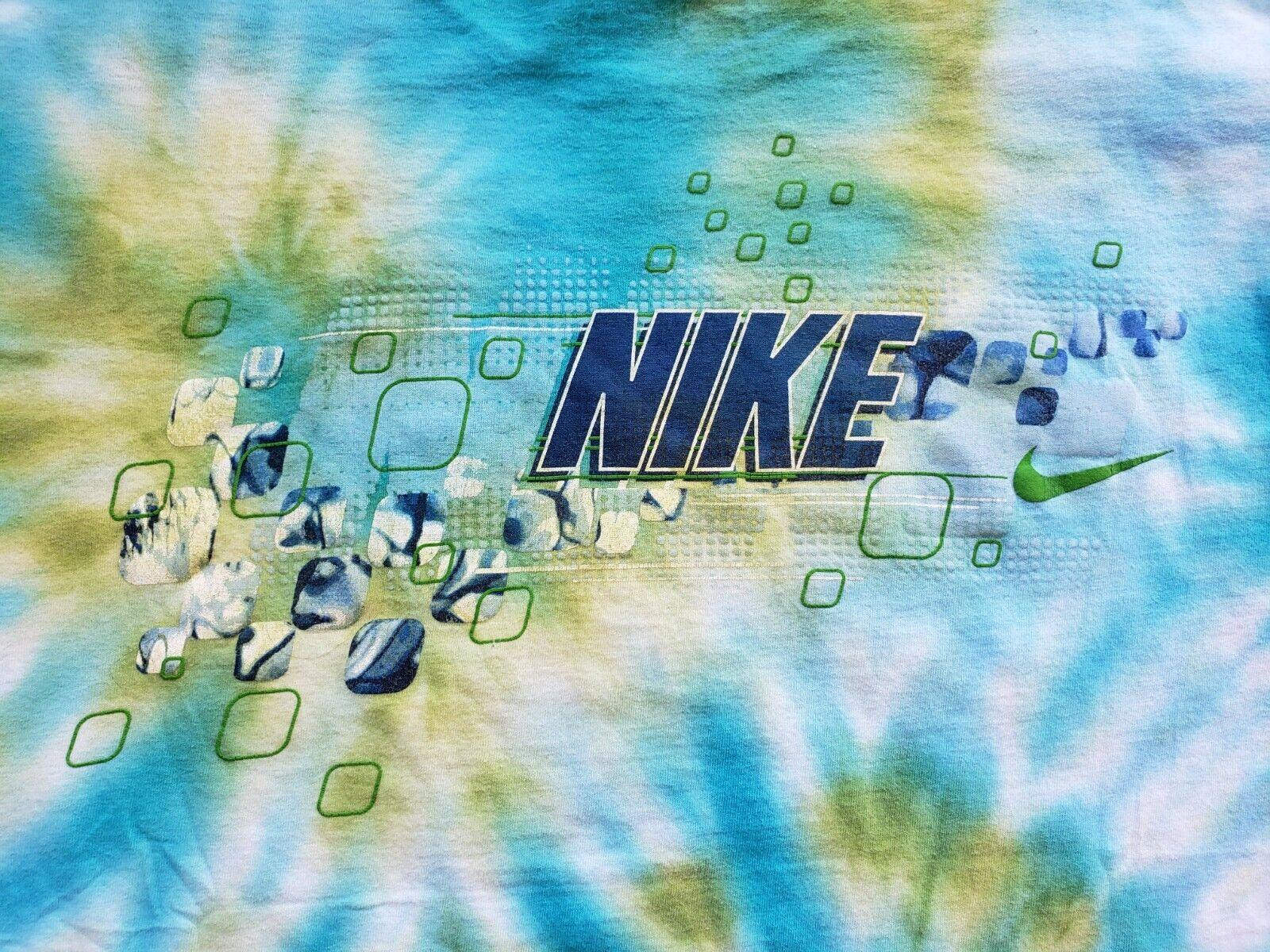 Vintage 90's Y2K Nike Swim Tie Dye AOP T Shirt Si… - image 2