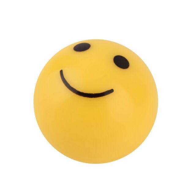 "Car Truck Bike Yellow ""SMILE FACE"" Ball Tire Air Valve Stem Cap Wheel Rims KK"