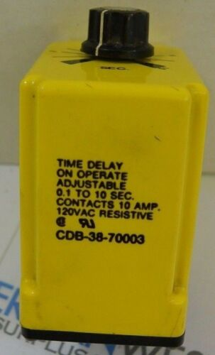 Potter Brumfield time delay CDB-38-70003 .1 to 10 seconds timer