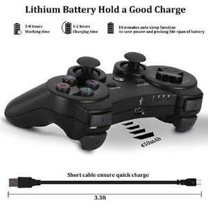NEW-Wireless-Controller-For-PS3-Bluetooth-OUBANG-With-Cable-Black