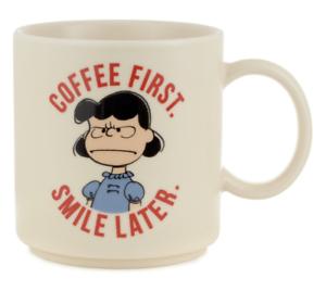 Hallmark-Peanuts-Lucy-Coffee-First-Smile-Later-Coffee-Mug-New