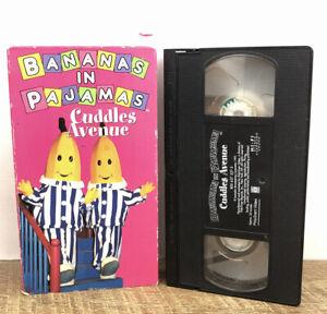 Bananas-in-Pajamas-Cuddles-Avenue-VHS-1995-Video-Tape-TV-Show-RARE-HTF-OOP