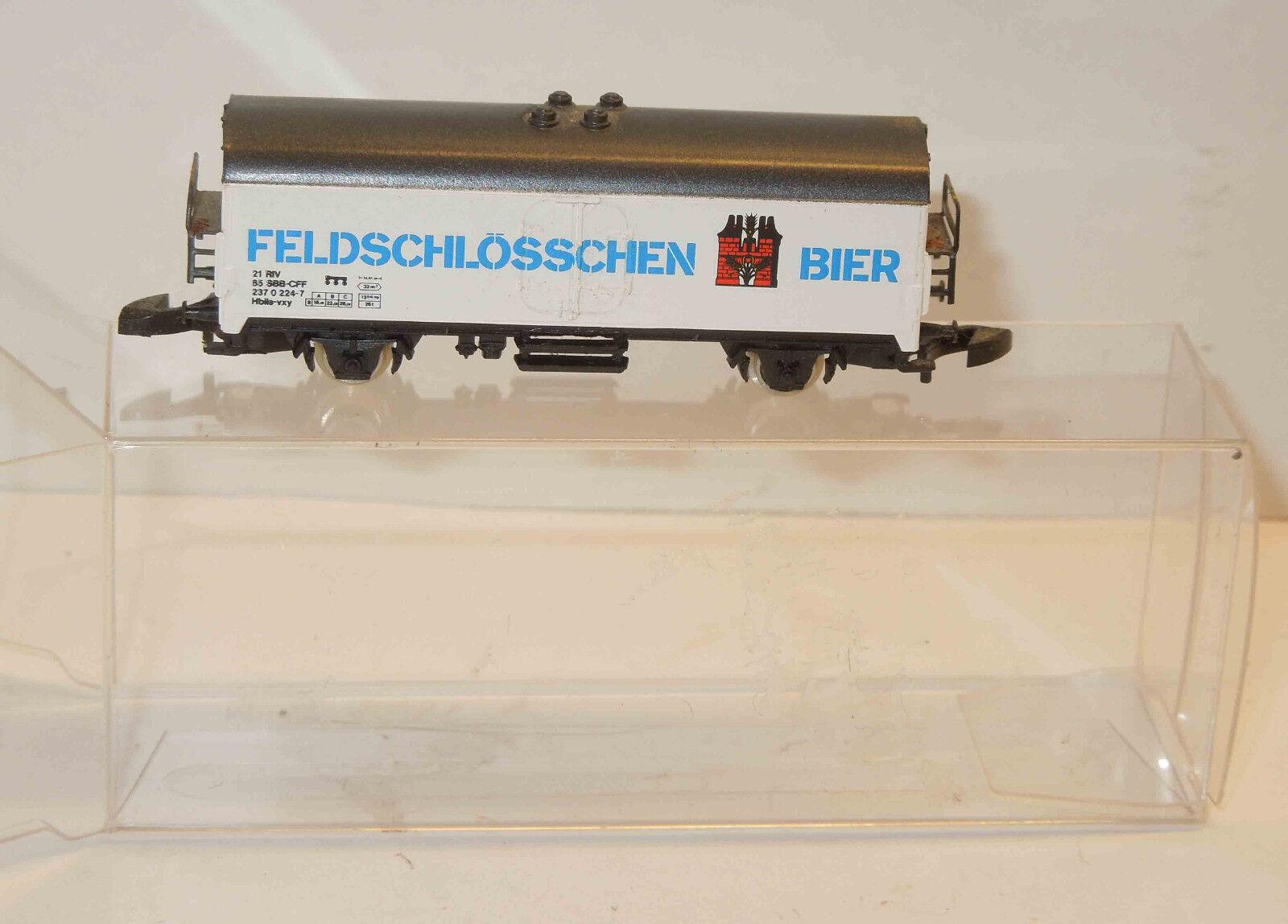 Märklin mini-club Sonderwagen Sonderwagen Sonderwagen Feldschlösschen Bier  | Überlegen  1f537c