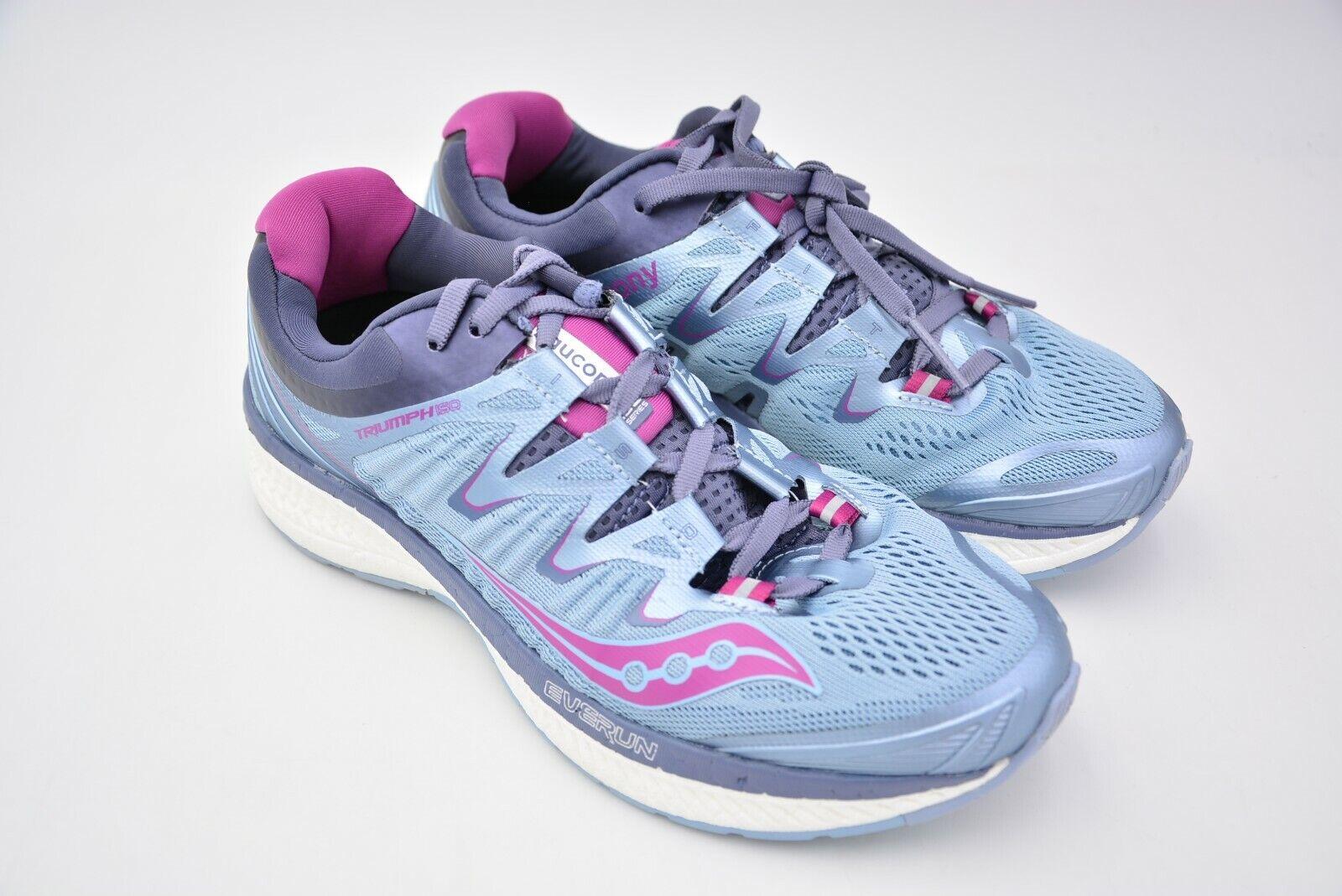 96c5b47b0d9 Saucony Triumph ISO 4 correr para mujer de Niebla gris Púrpura Tamaño nos 7  UE 38