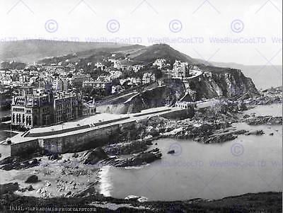 ILFRACOMBE DEVON ENGLAND 1890S VINTAGE HISTORY OLD BW PHOTO PRINT POSTER 989BWB