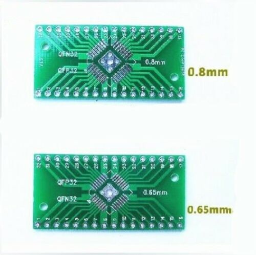 5Pcs QFN32 QFP32 0.8//0.65mm Pitch SMD to DIP Breakout Adapter Converter Plate