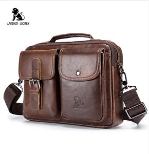 Image Is Loading Luosen Genuine Leather Men 039 S Shoulder Bag