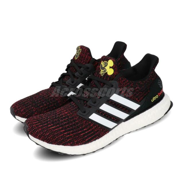 adidas Ultra BOOST 4.0 DISNEY Mickey Black Red Men Running Shoes Sneakers FX7796