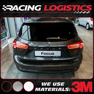 Details About Ford Focus 4 Kombi Carbon 3m Vinyl Rear Bumper Trim Protector Iv 2015 2019