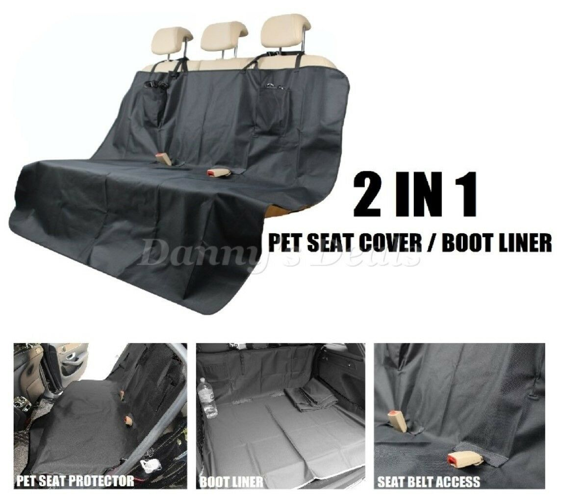 Nero per Cane Car Seat Cover avvio Liner Mat per FORD FOCUS BERLINA 2005 - 2009