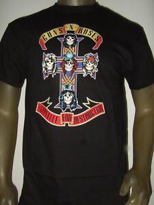 New GUNS N/' GNR ROSES APPETITE FOR DESTRUCTION Men/'s Black T-Shirt Size S to 3XL