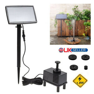 Solar-Feature-Fountain-Submersible-Water-Pump-Outdoor-Garden-Pool-Pond-180L-H-UK