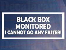 BLACK BOX MONITORED  Funny New/Young Driver Car/Window/Bumper Sticker