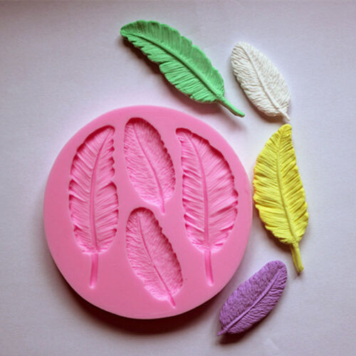 Silicone Mold Feather for resin polymer clay fondant cake chocolate mould fast
