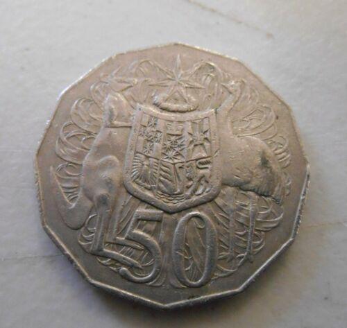 """1978 50 cent 50c coin /"""" COAT of ARMS STANDARD Design  /""""  SCARCE COIN"""