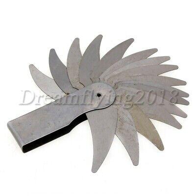 R7-14.5mm Steel Radius Gauge Marked Fillet 26 Blade Size Measuring Checking Tool