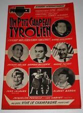 Partition vintage music sheet ANDRE VERCHUREN : Chapeau Tyrolien * Accordéon