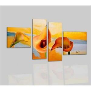 Quadri moderni astratti dipinti a mano su tela fiori calle for Quadri moderni fiori dipinti a mano