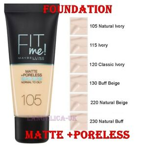 18b494b8925 MAYBELLINE Fit Me Matte Poreless Foundation Normal to Oily Skin 30ml ...