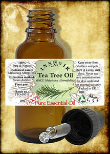 100% Pure Tea Tree Essential Oil 100ml, 50ml, 30m, 10ml+10% FREE with Pipette