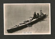 HMS NELSON most powerful battleship in the world. 1938 original poto card