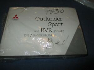 2013 mitsubishi outlander sport rvr owners manual new set ebay rh ebay co uk 2014 mitsubishi outlander sport es owners manual 2013 Mitsubishi Outlander Sport Accessories