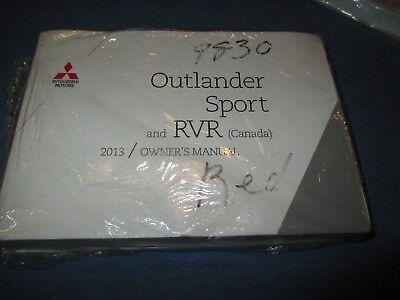 2013 MITSUBISHI OUTLANDER SPORT RVR OWNERS MANUAL NEW SET