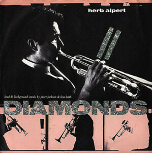 HERB-ALPERT-Diamonds-African-Flame-with-Janet-Jackson-A-amp-M-1985-pop-music-45t