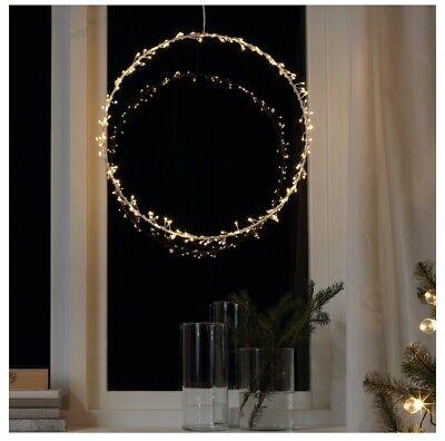 IKEA Strala Wall or Pendant Lamp Doves White Wreath Xmas Winter STRÅLA Vinter