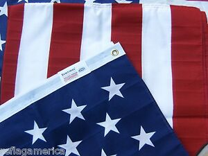 Valley-Forge-US-American-Flag-3-039-x5-039-Poly-Cotton-100-Made-in-the-USA
