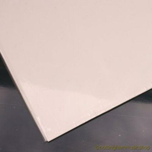 Guitar pickguard scratch plate material solid cream 29x44cm large sheet 3 ply