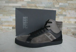 Details about Hogan Rebel 44 10 High Top Sneakers Lace Up New Shoes Grey Previously