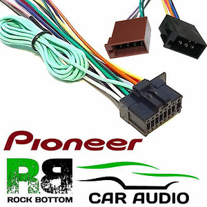 pioneer sph da100 car radio stereo 16 pin power wiring harness loom rh ebay co uk Car Radio Double Din